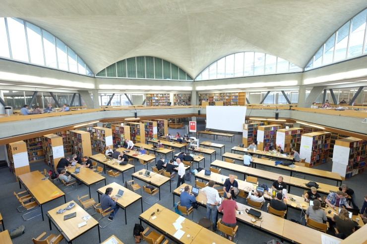 Reading room of UB Basel