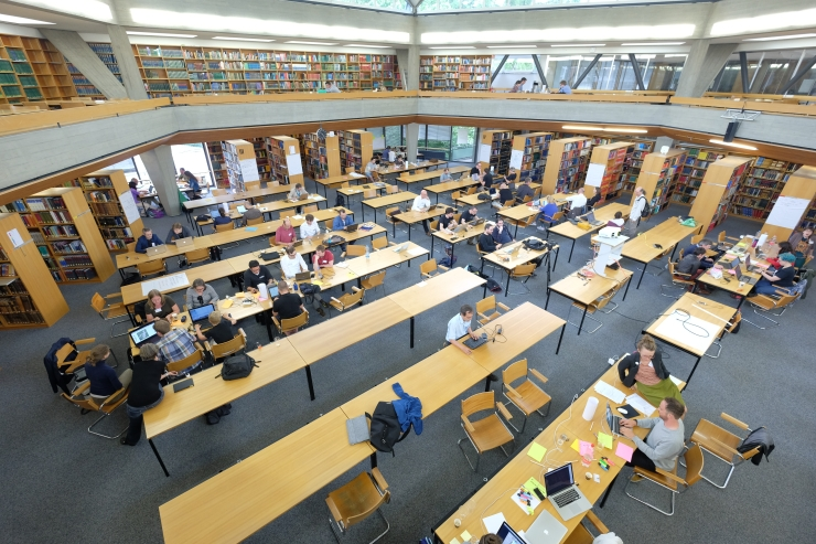 Reading room Basel University Library